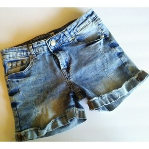 7 For All Mankind Girls Denim Jean Shorts sz. 14